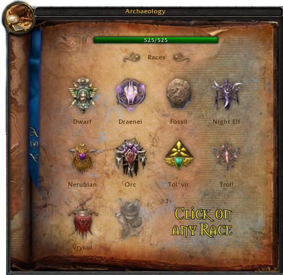 Races & Artifacts | WoW Dig Site