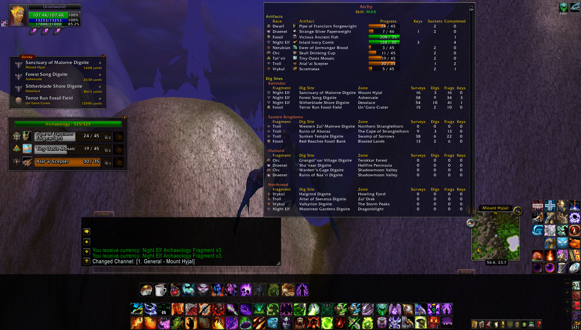 Archy Addon | WoW Dig Site
